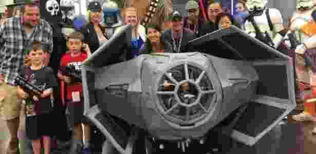 A nave do Star Wars de Daniel chamou atenção em várias conferências em Portland - Divulgação - Divulgação