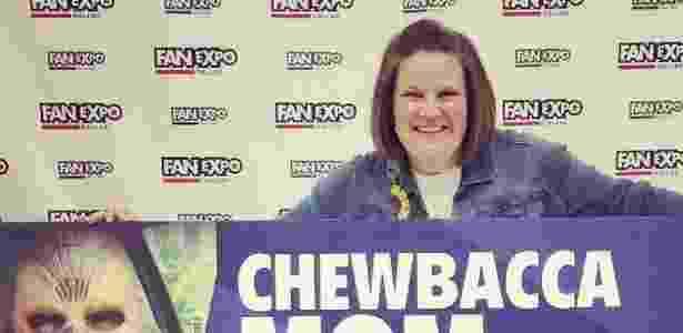 Na Fanexpo, a antiga Comic Con de Dallas, a americana fez sucesso promovendo seu vídeo como 'Mamãe Chewbacca' - Instagram/Candance Payne - Instagram/Candance Payne