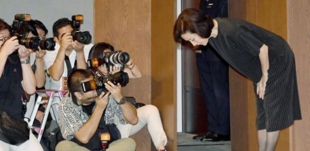 Antes que mesmo que seu filho fosse acusado, a atriz Atsuko Takahata disse ser responsável por qualquer ato que ele pudesse ter cometido - Getty Images