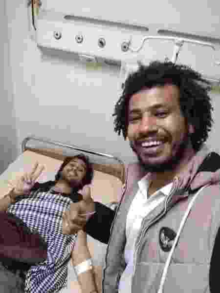 Quando ficou internado em Aswan, no Egito, por estar com malária - Arquivo pessoal - Arquivo pessoal