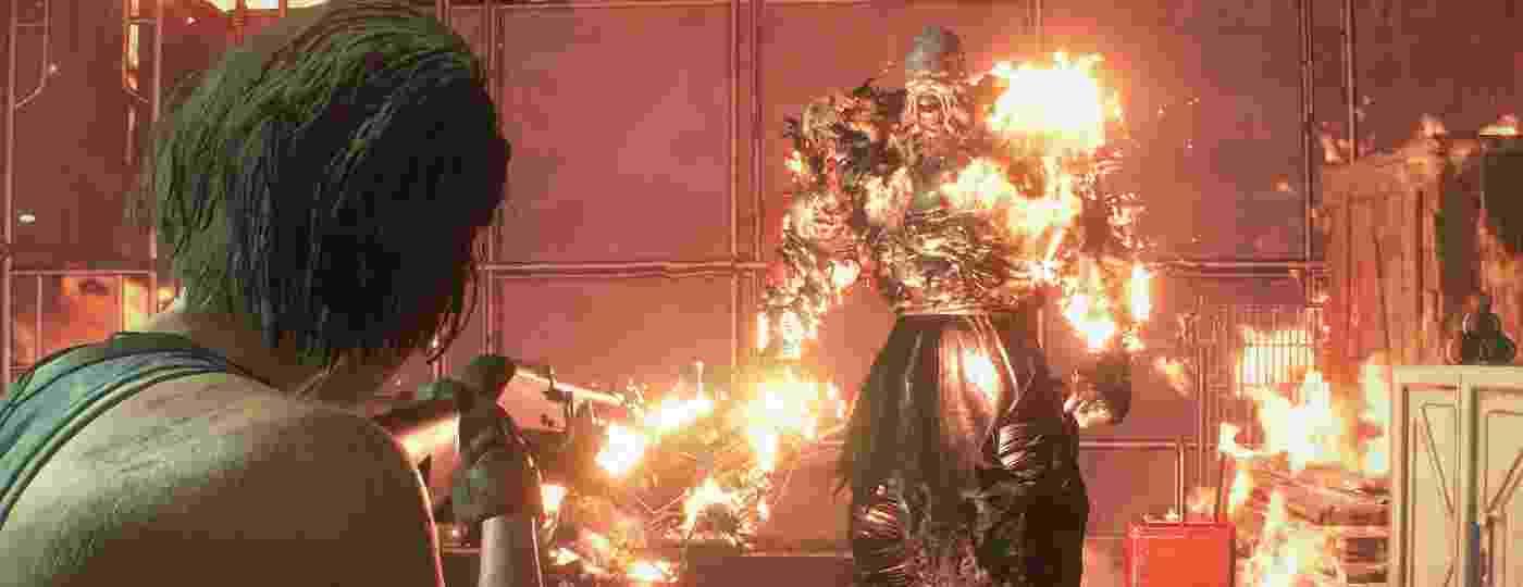 Nemesis em chamas e Jill Valentine com uma escopeta: o que você faria?  - Divulgação