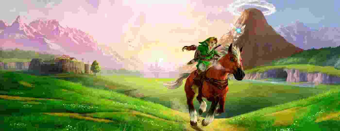 O herói Link e sua égua Epona, dupla que protagoniza aventuras em The Legend of Zelda - Divulgação