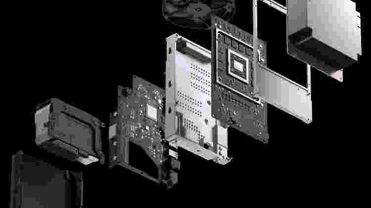 Xbox Series X raio X do console - Divulgação/Microsoft - Divulgação/Microsoft