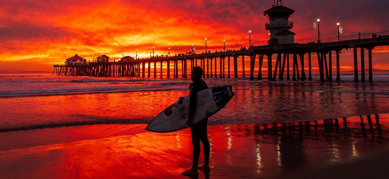 Huntington Beach, a capital do surfe nos Estados Unidos - Corey Goforth/Visit Huntington Beach