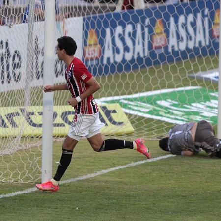 Pablo comemora gol pelo São Paulo, contra a Inter de Limeira, no Paulistão - Divulgação/São Paulo