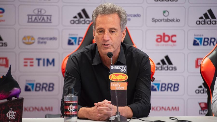 Rodolfo Landim (foto), presidente do Flamengo, teve atitude mesquinha - Marcelo Cortes/Flamengo