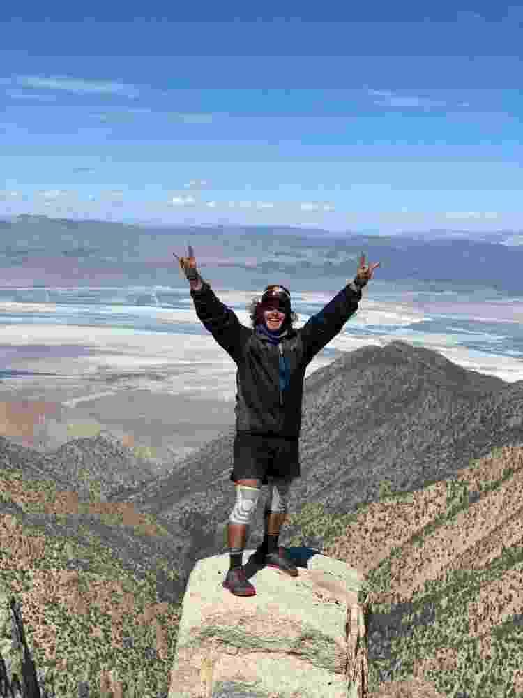 André em um dos mirantes da Pacific Crest Trail - Arquivo pessoal - Arquivo pessoal