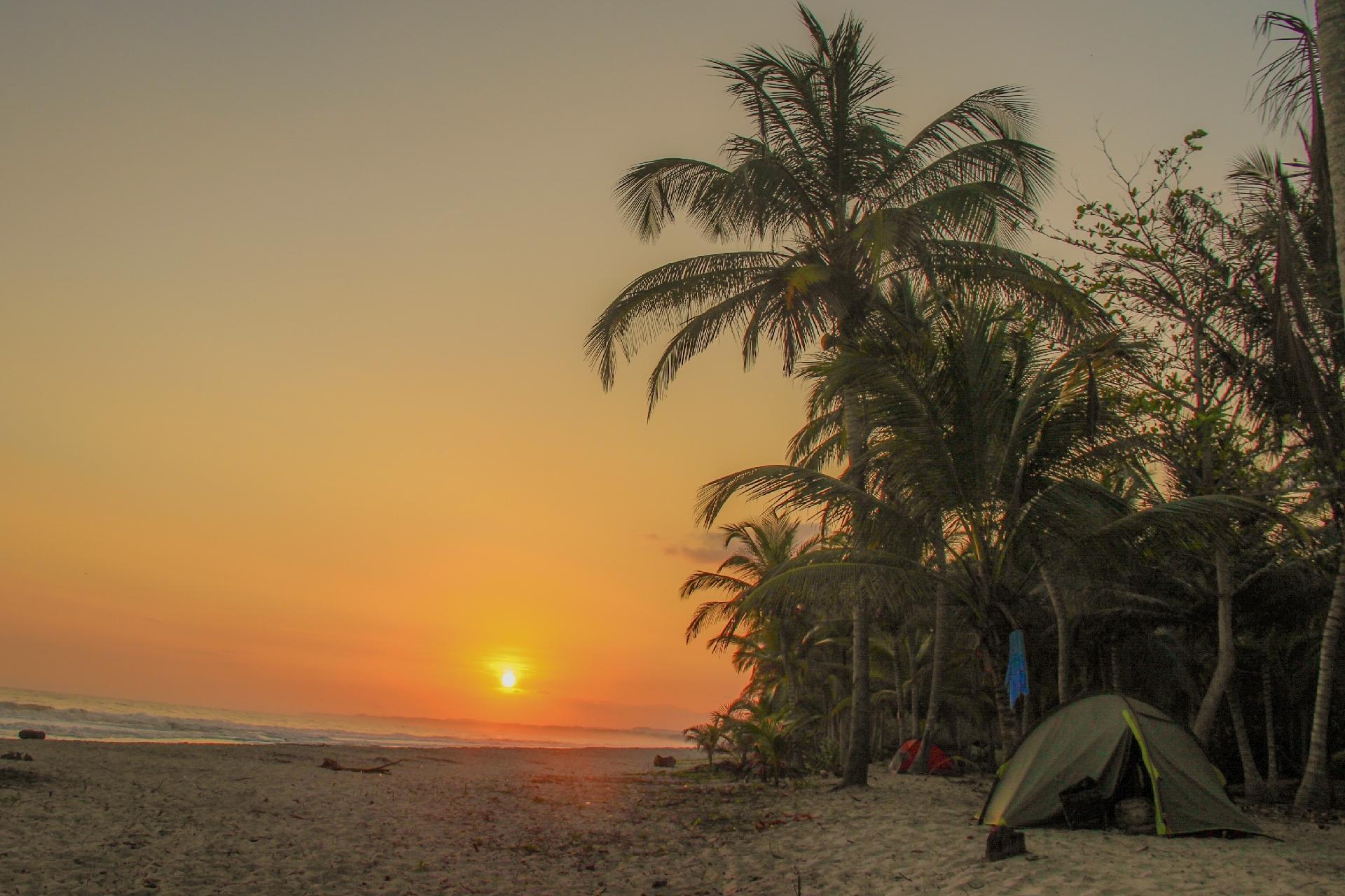 Camping en la costa colombiana de Palomino - Archivo Personal