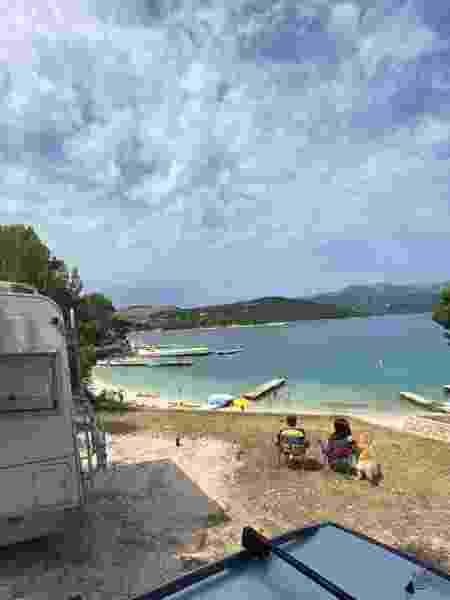 No litoral da Albânia - Arquivo pessoal - Arquivo pessoal