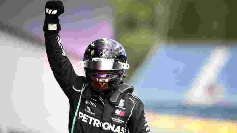 Lewis Hamilton, da Mercedes, vem de duas vitórias, no GP da Estíria e no GP da Hungria - Mark Thompson/Pool via REUTERS