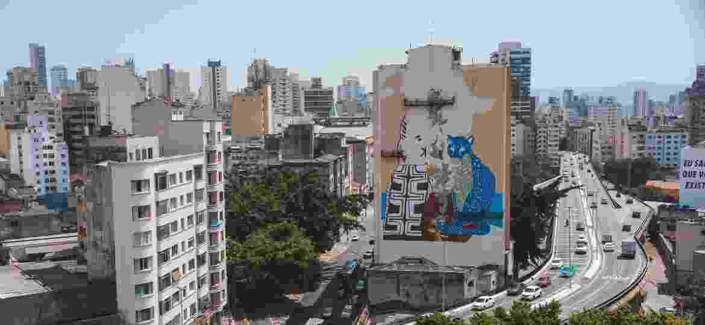 """A obra tem o nome de """"Pindorama"""" e se inspira nos povos originários brasileiros, ou seja, os indígenas - Divulgação/Converse"""
