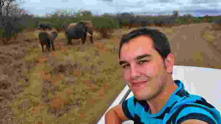 Em Moçambique, antes de ser perseguido por um elefante - Arquivo pessoal - Arquivo pessoal