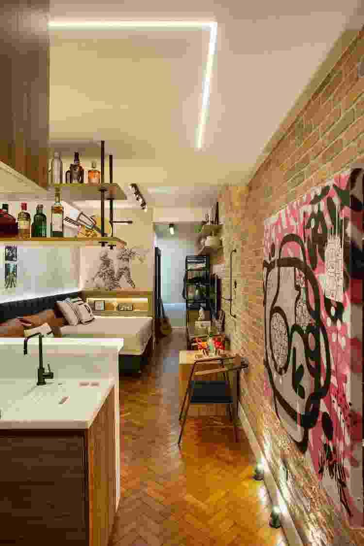 As paredes foram derrubadas para integrar todos os ambientes - Fotos Juliano Colodeti/ MCA Estúdio/Divulgação - Fotos Juliano Colodeti/ MCA Estúdio/Divulgação