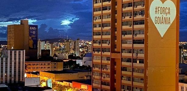 Esperança nos prédios de Goiânia | Quem é grupo que projeta mensagens de apoio e orientações sobre covid-19