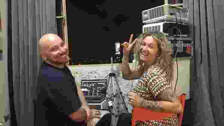 Paulo e Claudia integrantes do projeto Abraço à distância - Arquivo pessoal