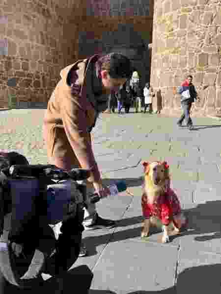 Lilo sendo entrevistada em Ávila, na Espanha - Arquivo pessoal - Arquivo pessoal