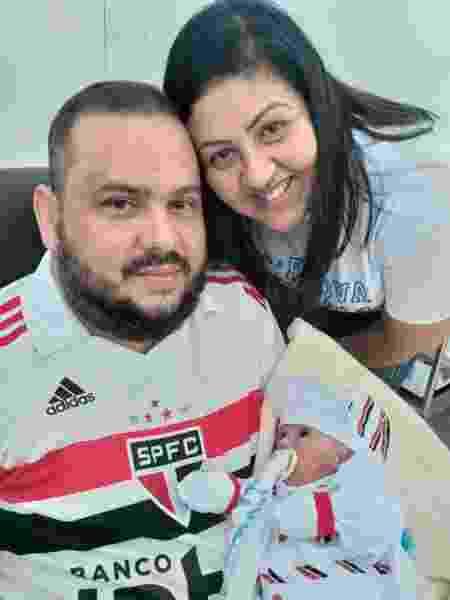 Tatiane dos Santos Santiago teve parto aos 6 meses de gestação - Arquivo pessoal - Arquivo pessoal