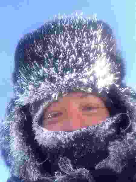 Angela em região de neve - Arquivo pessoal - Arquivo pessoal