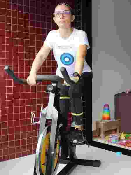 Lígia na bicicleta - Arquivo pessoal - Arquivo pessoal