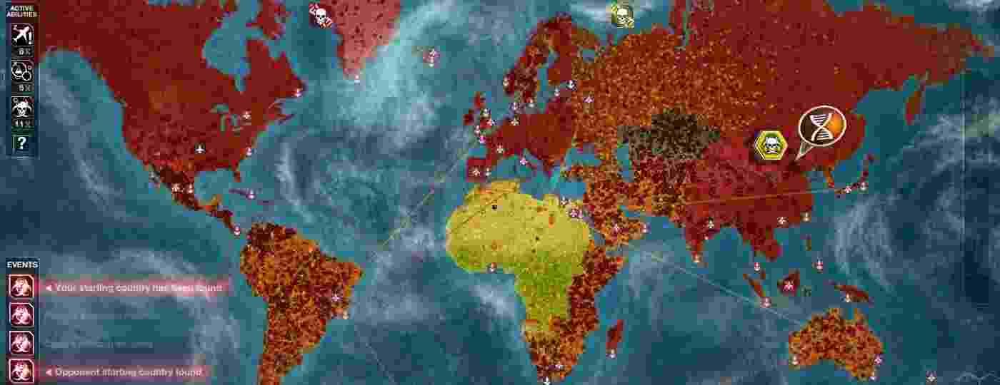 Cenário desolador em Plague Inc: o vírus já contaminou quase o mundo inteiro - Divulgação