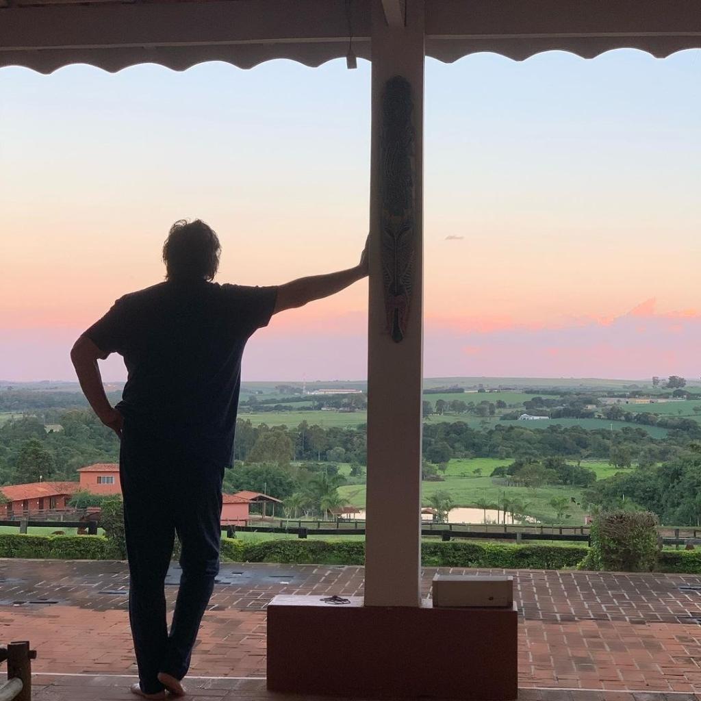 Fábio Júnior em sua propriedade rural - Reprodução/Instagram