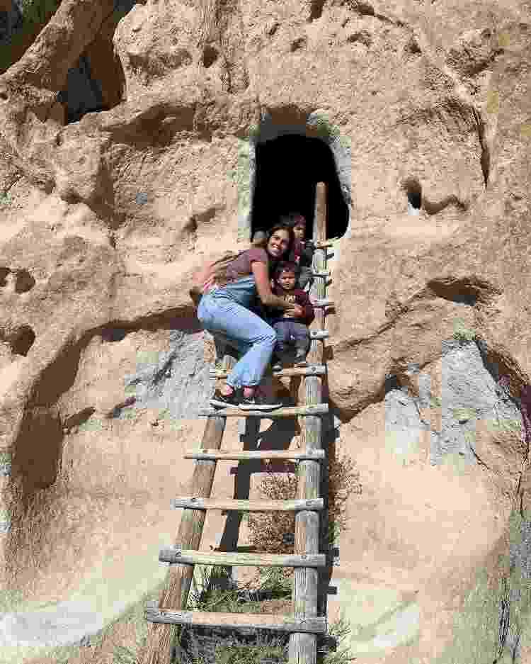Família no Bandalier National Monument - Arquivo pessoal - Arquivo pessoal