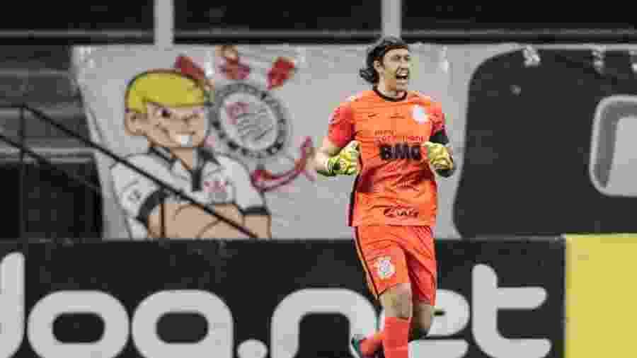 Cassio, durante a partida entre Corinthians e Palmeiras - Rodrigo Coca/Agência Corinthians
