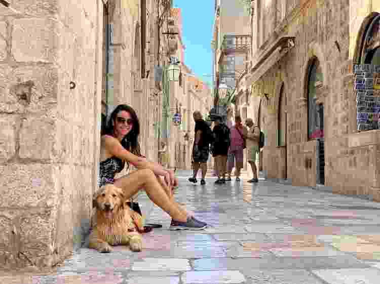 Lilo e Talita em Dubrovnik, na Croácia - Arquivo pessoal - Arquivo pessoal