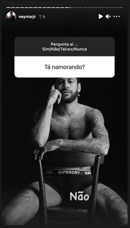 Neymar está solteiro! - Reprodução/Instagram/@neymarjr