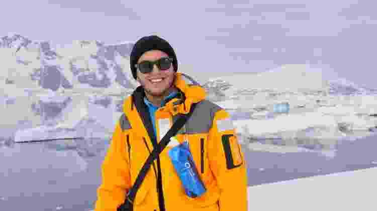 Na Antártida depois de enfrentar o mar revolto do estreito de Drake - Arquivo pessoal - Arquivo pessoal