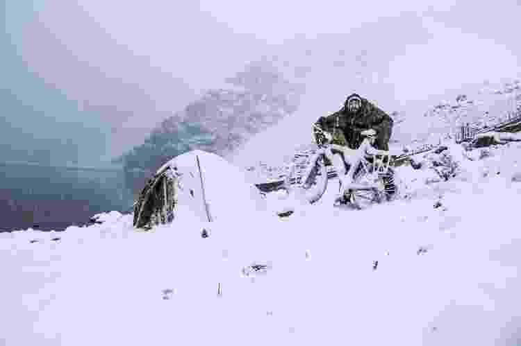 Sob a neve dos Andes - Arquivo pessoal - Arquivo pessoal