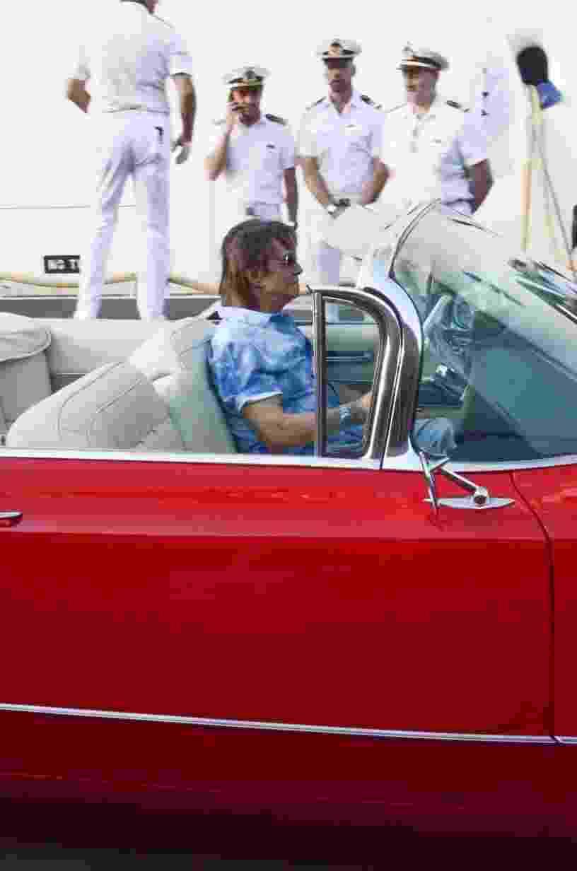 Roberto Carlos chegando em seu cruzeiro Emoções em Alto Mar - Divulgação/ Filipi Dahrlan
