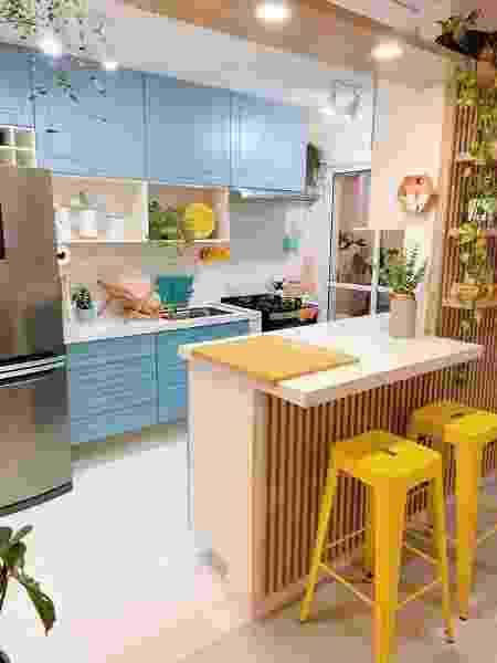 Cozinha azul - Arquivo pessoal - Arquivo pessoal