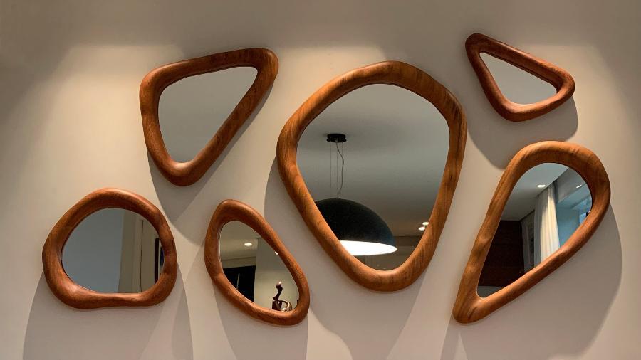 Tomás Graeff se inspirou em árvores para criar espelhos com formas orgânicas - Arquivo Pessoal