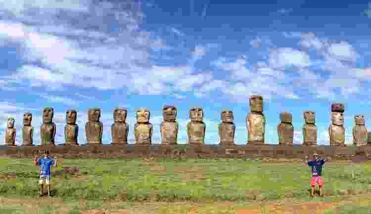 Irmãos na Ilha de Páscoa - Arquivo pessoal - Arquivo pessoal