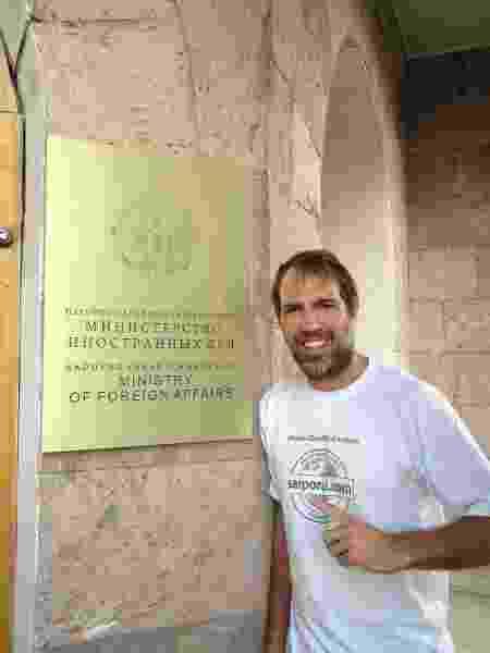 Guilherme em Nagorno-Karabakh  - Arquivo pessoal - Arquivo pessoal