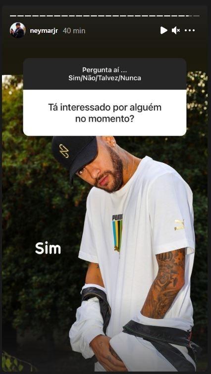 Crush na área? Neymar confirma que está interessado em alguém - Reprodução/Instagram/@neymarjr