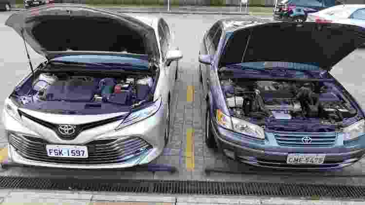 Toyota Camry 2018 x 1998 - Felipe Carvalho/UOL - Felipe Carvalho/UOL