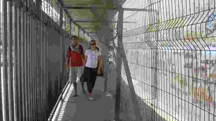 Cruzando a fronteira entre Israel e Cisjordânia - Arquivo pessoal - Arquivo pessoal