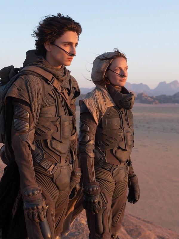 Timothee Chalamet e Rebecca Ferguson em cena de 'Duna'
