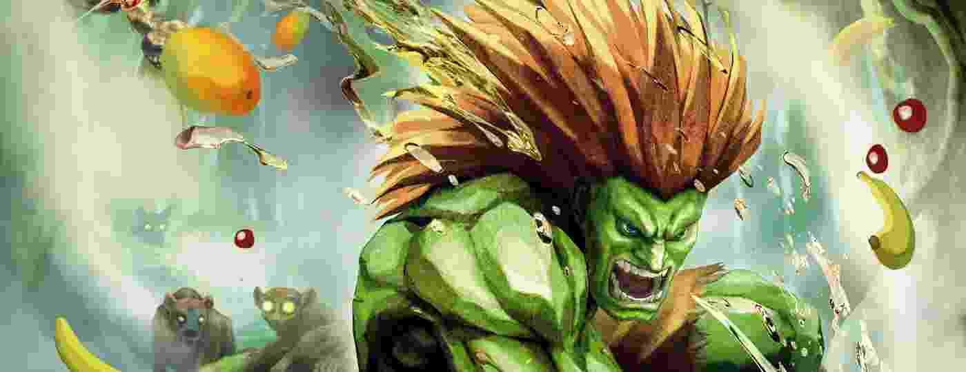 Blanka em uma das ilustrações da Capcom para Street Fighter - Divulgação/Capcom
