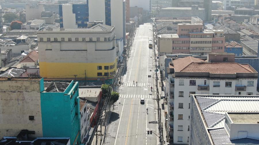 Drone filma região do Largo da Concórdia, em São Paulo - Divulgação/Secreteria Municipal de Segurança de SP