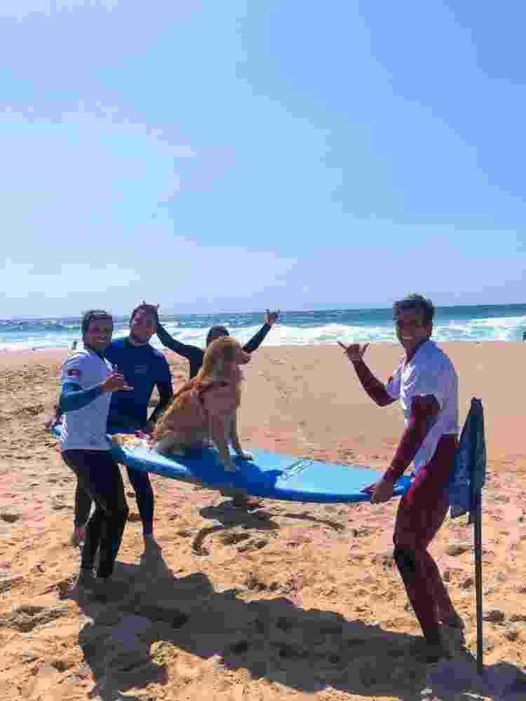 Lilo preparada para surfar em Cascais - Arquivo pessoal - Arquivo pessoal