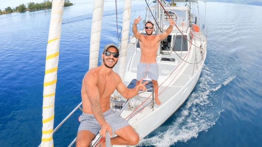 Lucas e Neto no veleiro Katoosh - Arquivo pessoal
