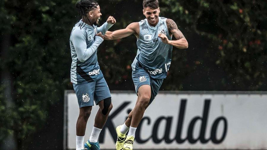 Marinho e Kaio Jorge no Santos - Ivan Storti/Santos FC