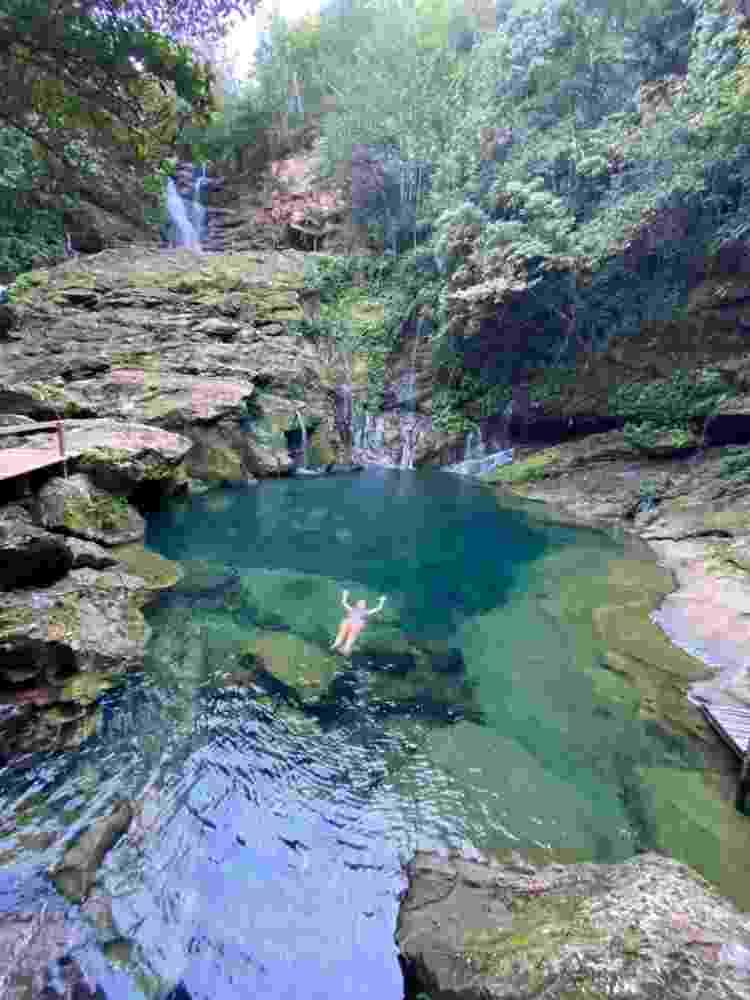 Cânion e cachoeira do Santuário, na Chapada das Mesas - Arquivo pessoal - Arquivo pessoal