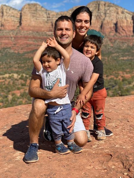 Família brasiem Sedona - Arquivo pessoal