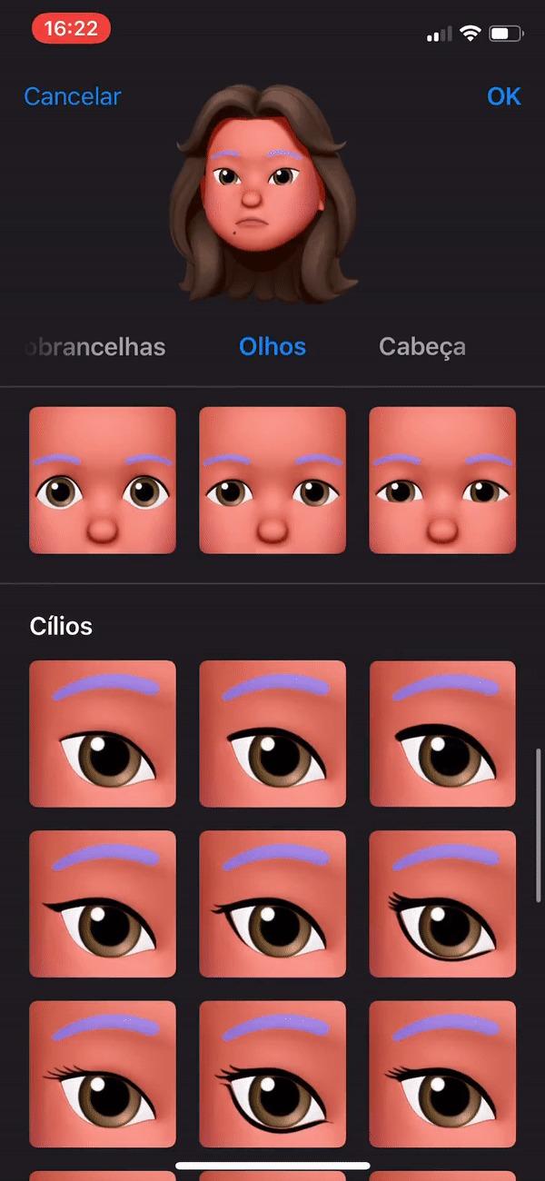 Memoji - olhos