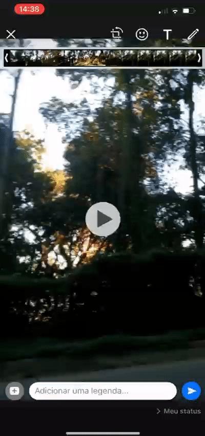 Toque no ícone de seta no canto inferior direito e publique o vídeo