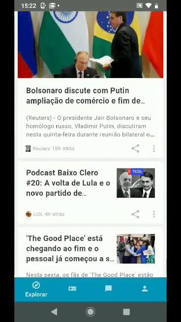 Hello You UOL Motorola - abrindo e fechando conteúdo